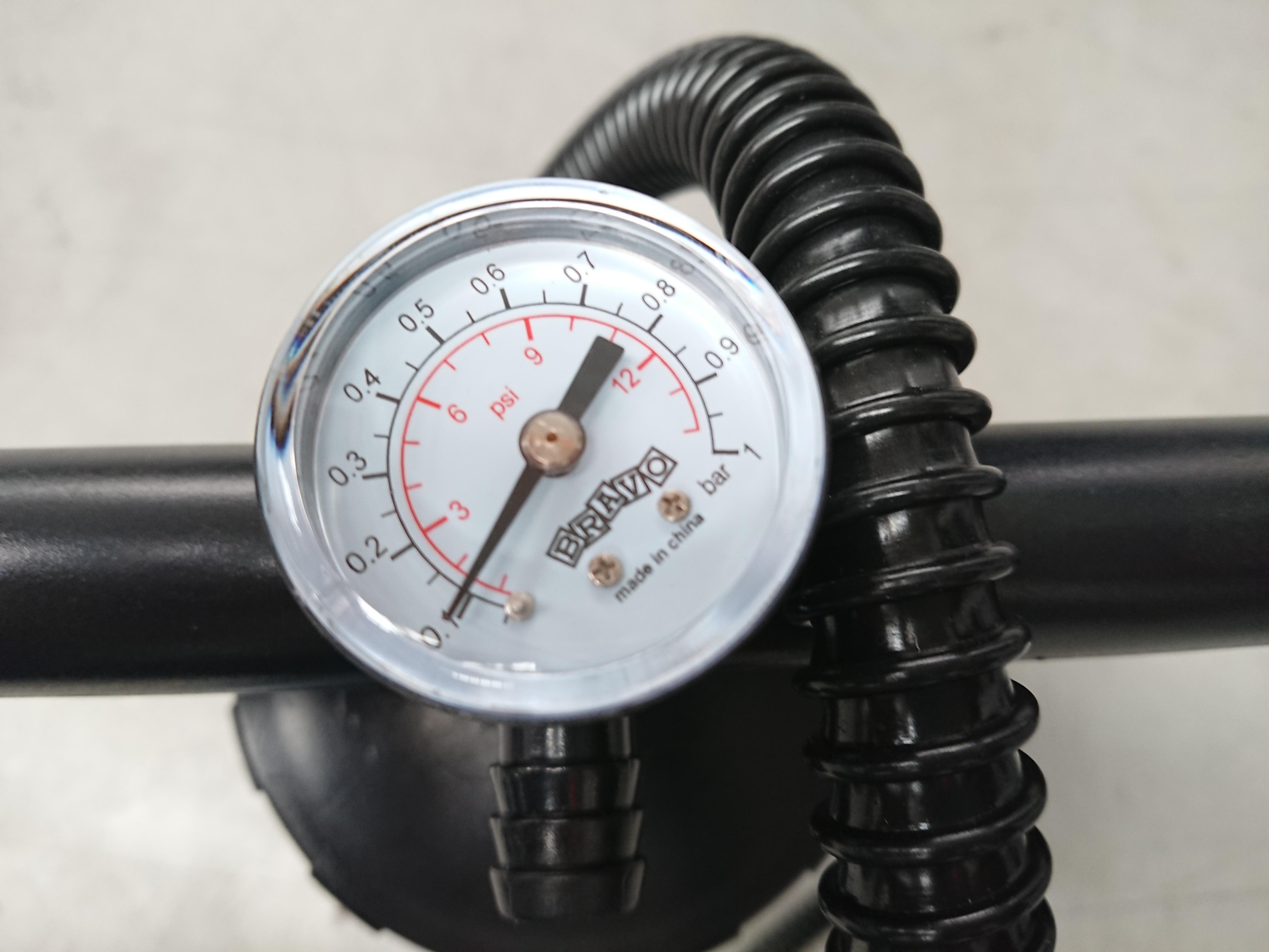 BRAVO 6M Double Action Doppelhubkolben Handpumpe inkl Manometer